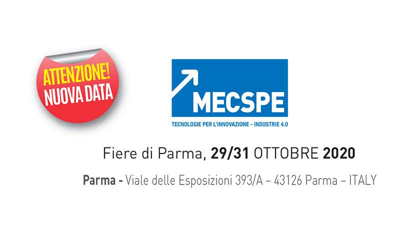 MECSPE 2020 dal 29 al 31 ottobre